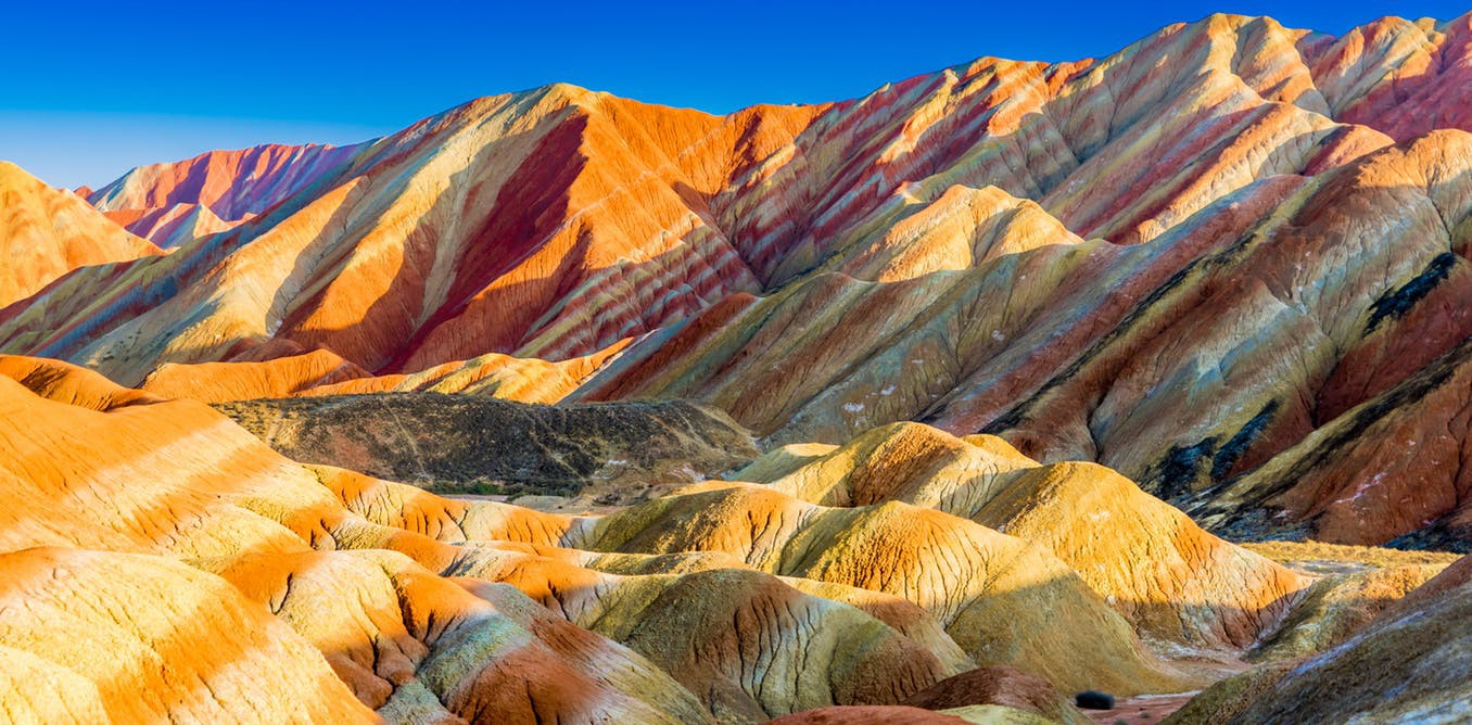 The Rainbow Mountains in Zhangye Danxia National Geopark, China. Shutterstock Thongchai