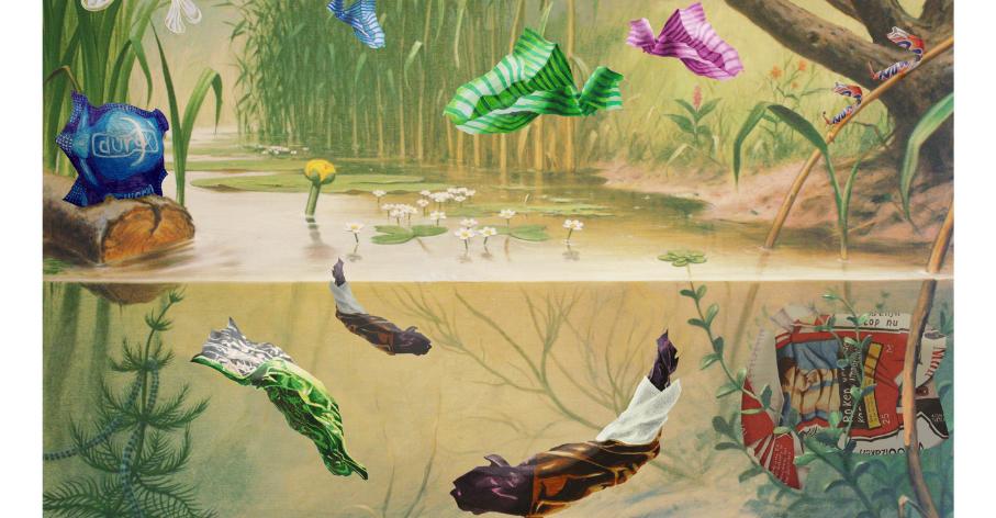 'In sloot en plas' (dans les flaques et les mares), à partir d'une aquarelle de Marinus Adrianus Koekkoek le Jeune © Arike Gill